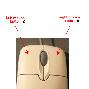 button Right mouse