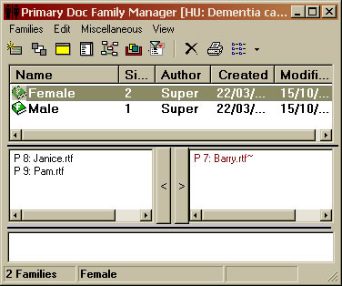 Atlas.ti Primary Document Family manager