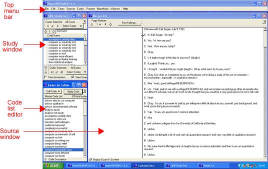 Screenshot HyperResearch